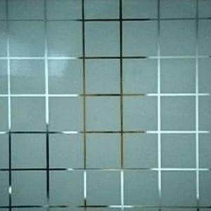 Divisória de vidro jateado para cozinha