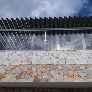 Janela de vidro temperado 4 folhas